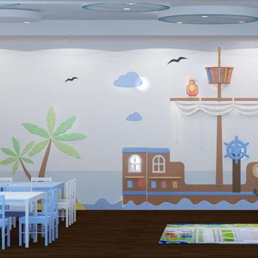 Детский центр - дизайн-проект монтессори клуба.