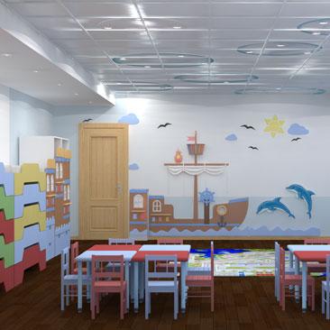 Оформление частного детского сада - фото.