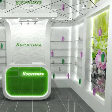 Дизайн-проекты магазинов косметики и парфюмерии - фото.