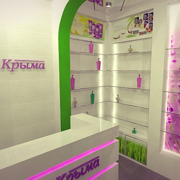 Дизайн интерьера магазина косметики и парфюмерии.