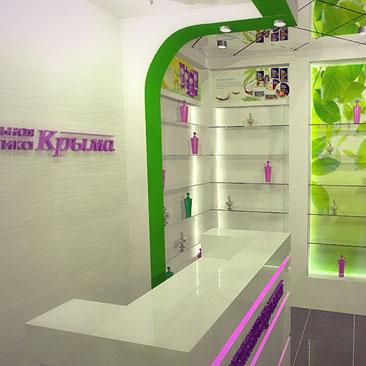 Дизайн магазина косметики и парфюмерии - ФОТО.