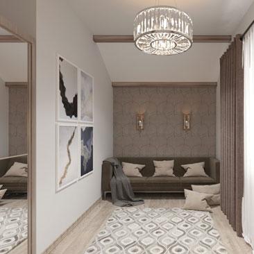 Дизайн комнаты для гостей в Москве.