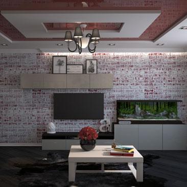 Натяжные потолки в гостиной - дизайн-проект.
