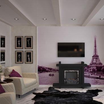 Дизайн-проект квартиры в стиле Парижа.
