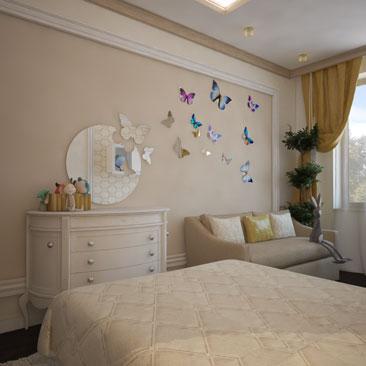 Дизайн-проект детской комнаты заказать в Москве.