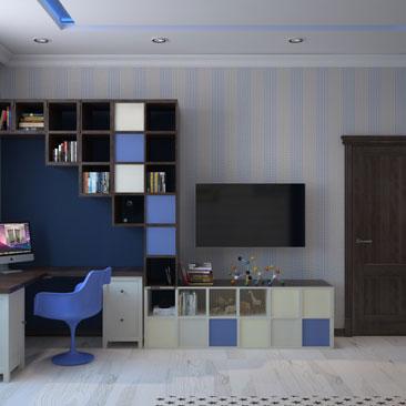 Декор и интерьер детской комнаты - фото.
