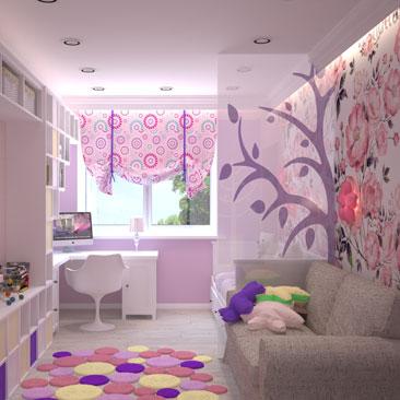 Интересные идеи дизайна детской комнаты для девочки.