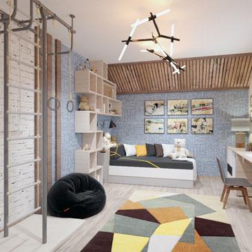 Дизайн интерьера детской комнаты в Москве.