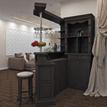 Закажите дизайн интерьера дома, усадьбы в Москве.