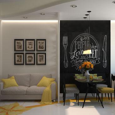 Желтая кухня: фото готовых дизайн-проектов.