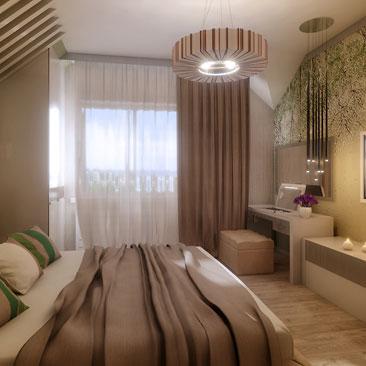 Дизайн-проект интерьера спальни.