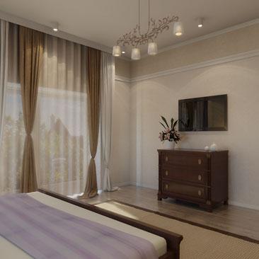 Дизайн спальни: проект интерьера спальни.