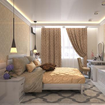 Разработка дизайн-проекта спальни.