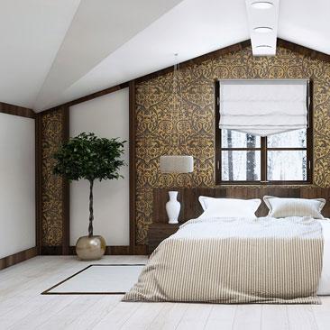 Проект: дизайн интерьера спальни.