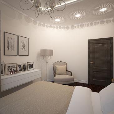 Спальня в кофейных тонах - фото