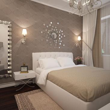 Кофейный цвет в интерьере – оттенки кофе с молоком в спальне.