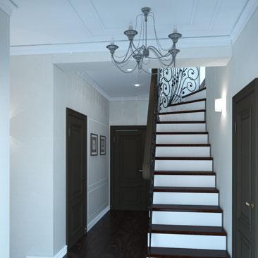 Дизайн интерьеров прихожих, холлов и коридоров - 3д проекты, галерея.