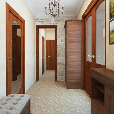 Дизайн интерьера холла в коттедже / в квартире - портфолио проектов.