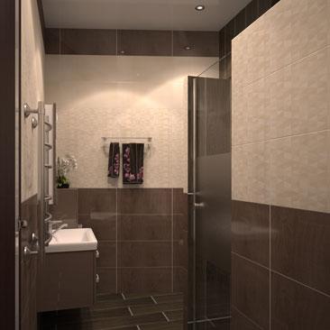 Дизайн-оформление интерьера душевой / ванной / туалета - портфолио проектов.