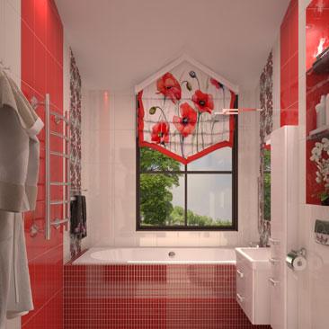 Интерьеры ванной комнаты.