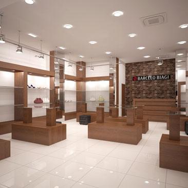 Дизайн интерьера обувного магазина Москва.