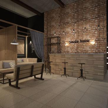 Дизайн кальян-бара в Москве.