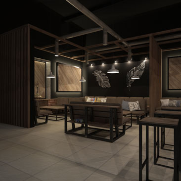 Кальян-бар - дизайн-проект.