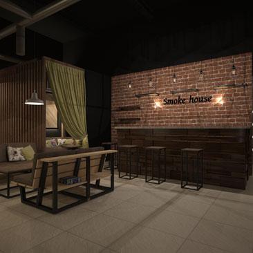Дизайн-проект кафе в стиле Лофт