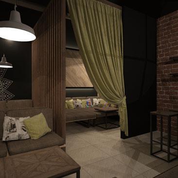 Дизайн интерьера ресторана-кальянной Москва.