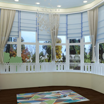 Проект детского сада в Москве - интерьеры и дизайн-оформление.