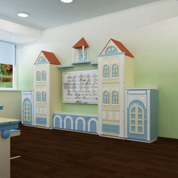 Дизайн интерьера частного детского сада с авторской мебелью на заказ.