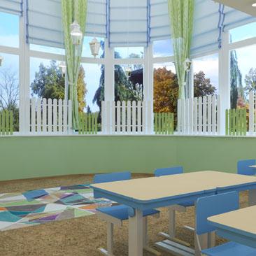 Дизайн частного детского сада. Дизайн интерьера Монтессори семейного клуба.