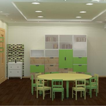 Детский развивающий центр - проекты интерьеров, фото.
