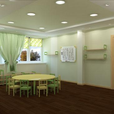 Детский развивающий центр, класс Монтессори - дизайн-проект.