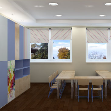 Дизайн-проект центра семейного досуга в Москве.