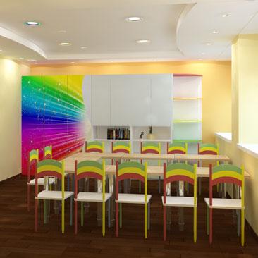 Дизайн-проект комнаты для детского творчества и саморазвития.