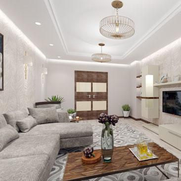 Дизайн проект гостиной комнаты.