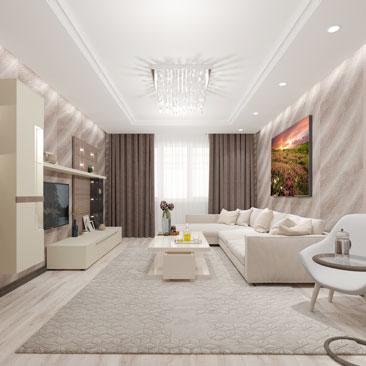 Интерьеры гостинных комнат.