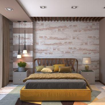 Дизайн оранжевой спальни – оформление интерьера.