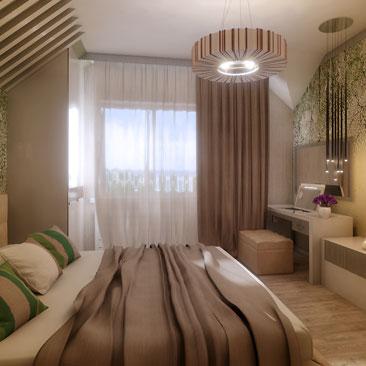 Дизайн спальни в бежевых тонах, фото примеры.