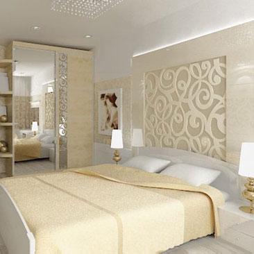 Дизайн спальни со светлой мебелью фото