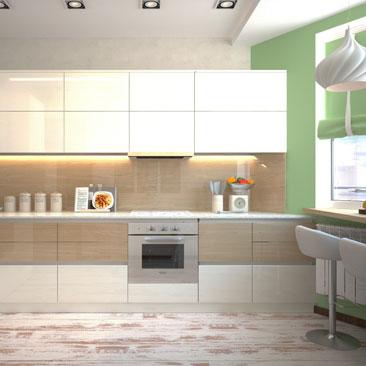 Дизайн интерьера кухни - услуги дизайнеров в Москве и в Воронеже.
