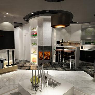 Дизайн кухни 2017-2018 хай тек
