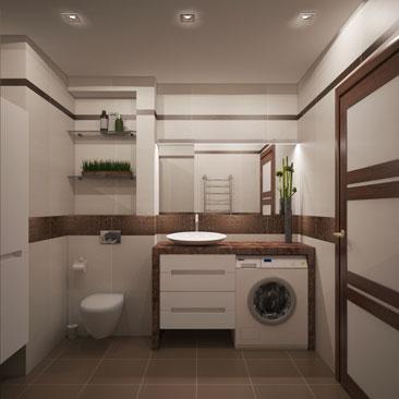 Минимализм в ванной комнате.