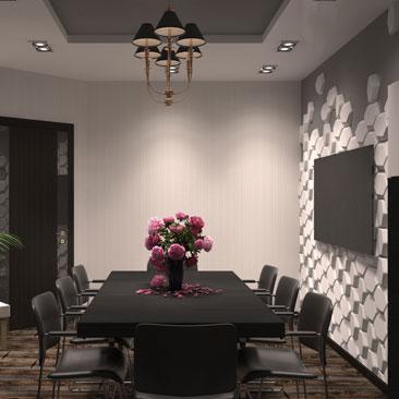 Комната для переговоров в офисе с элементами Лофта.