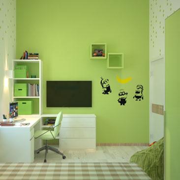 Минималистичные интерьеры детских комнат - портфолио.