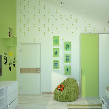 Спокойные интерьеры детских комнат - портфолио.