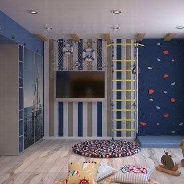 Нестандартные интерьеры детских комнат - портфолио.