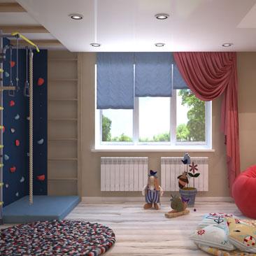 Креативные интерьеры детских комнат - портфолио.