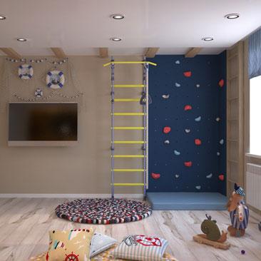 Дизайнерские интерьеры детских комнат - портфолио.